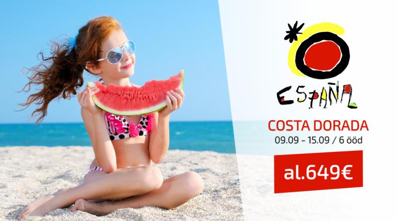 09.09-15.09/ 6 ööd Costa Dorada, al 649  EUR