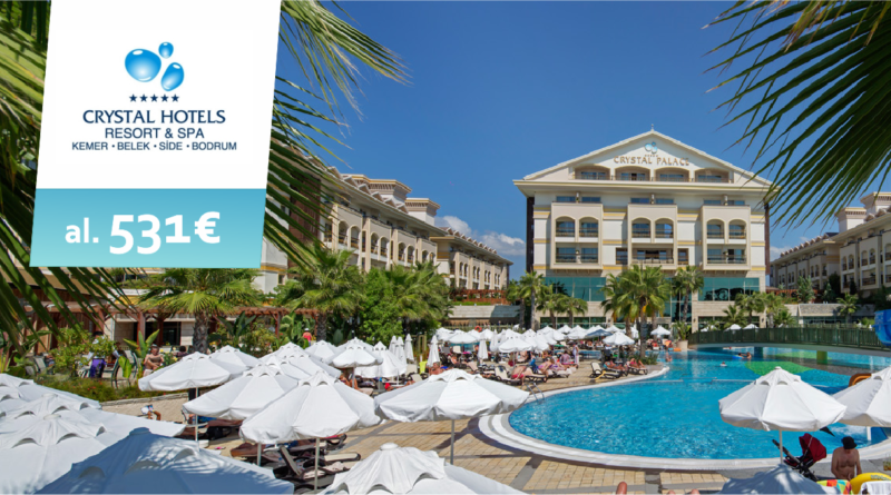 CRYSTAL hotellid! Hinnad al 531 EUR