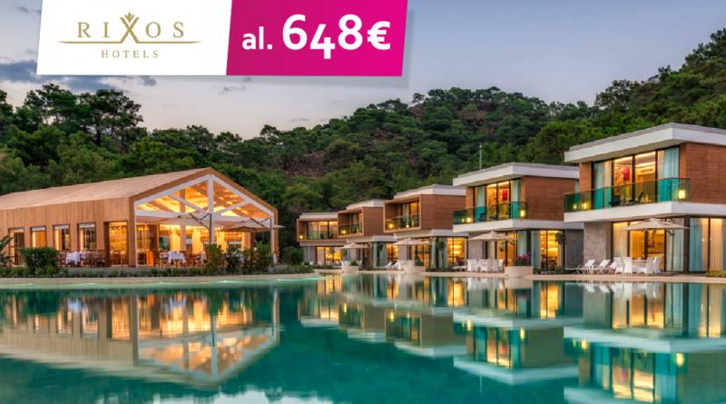 Rixos luksuslikud hotellid superhinnaga! Hinnad al 648 EUR