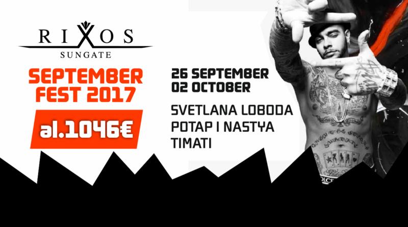 Rixos Sungate September Fest 2017! al 1046 EUR