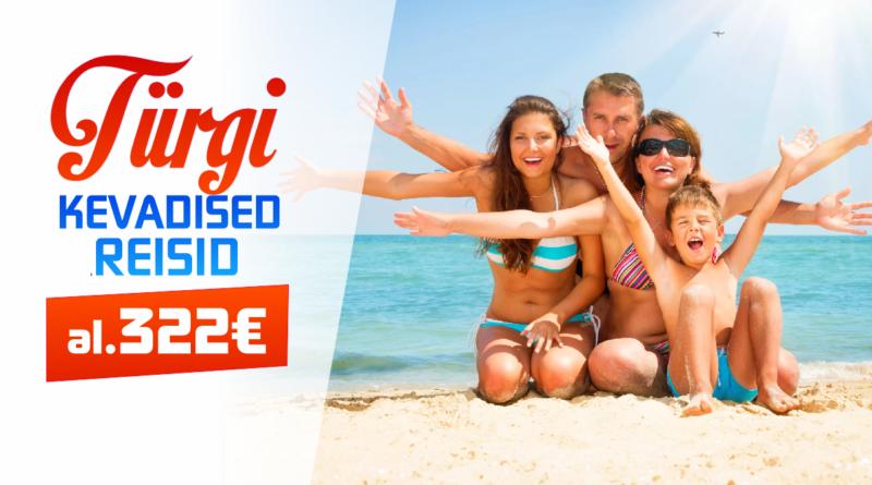 Kampaania: Alusta kevadet puhkusega TÜRGIS! Hinnad al 322 EUR!