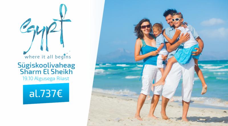 19.10 Sharm El Sheikh 10 ööks Riiast. al 737 €